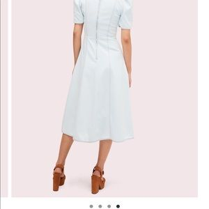 Kate Spade cotton v-neck puff sleeves dress
